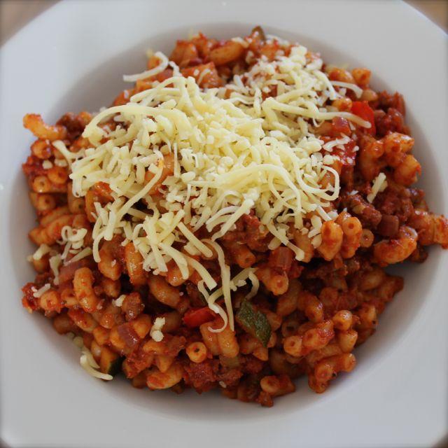 simpel macaroni recept
