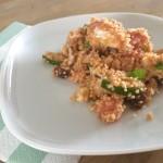 Koude couscous salade met geitenkaas