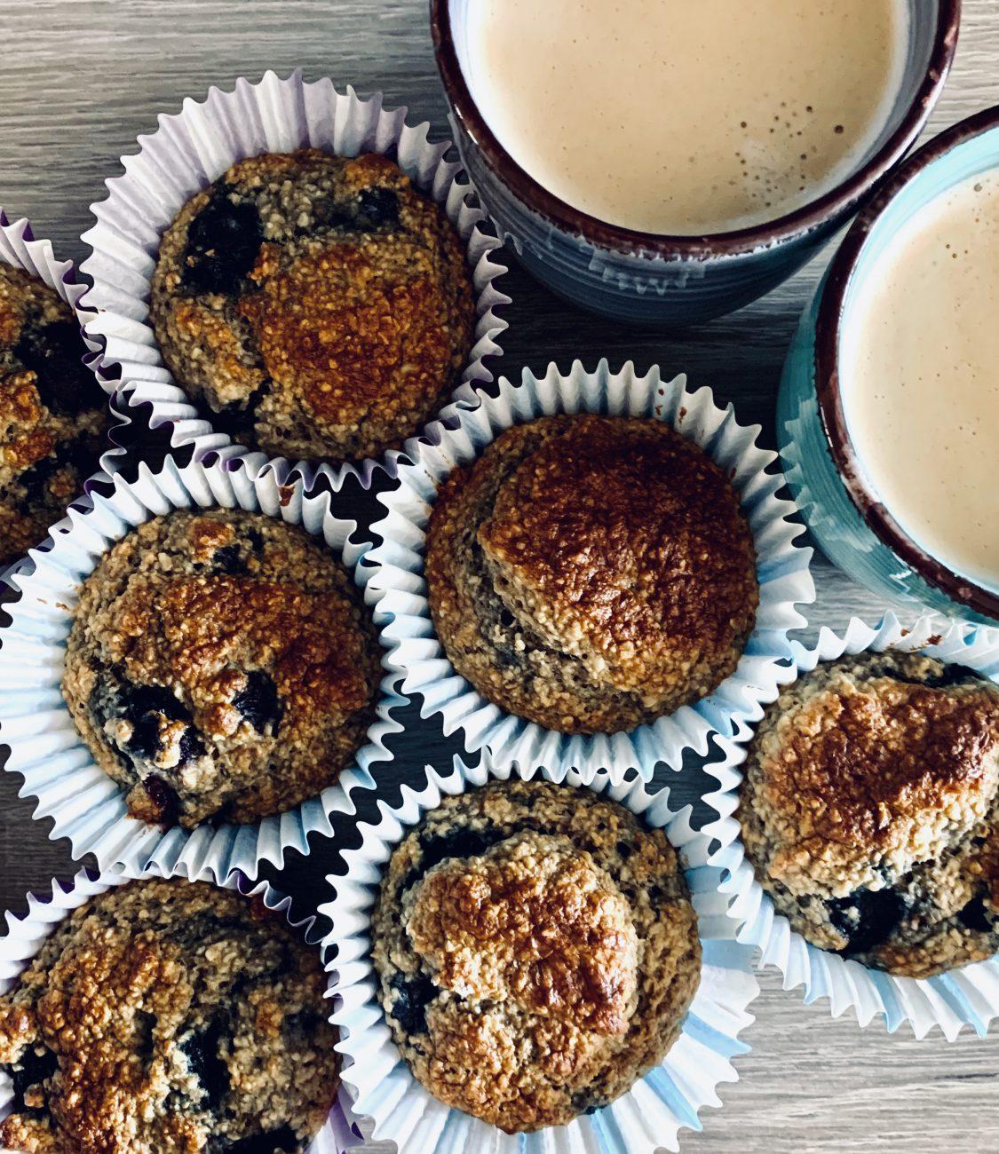 Gezonde muffins met blauwe bessen