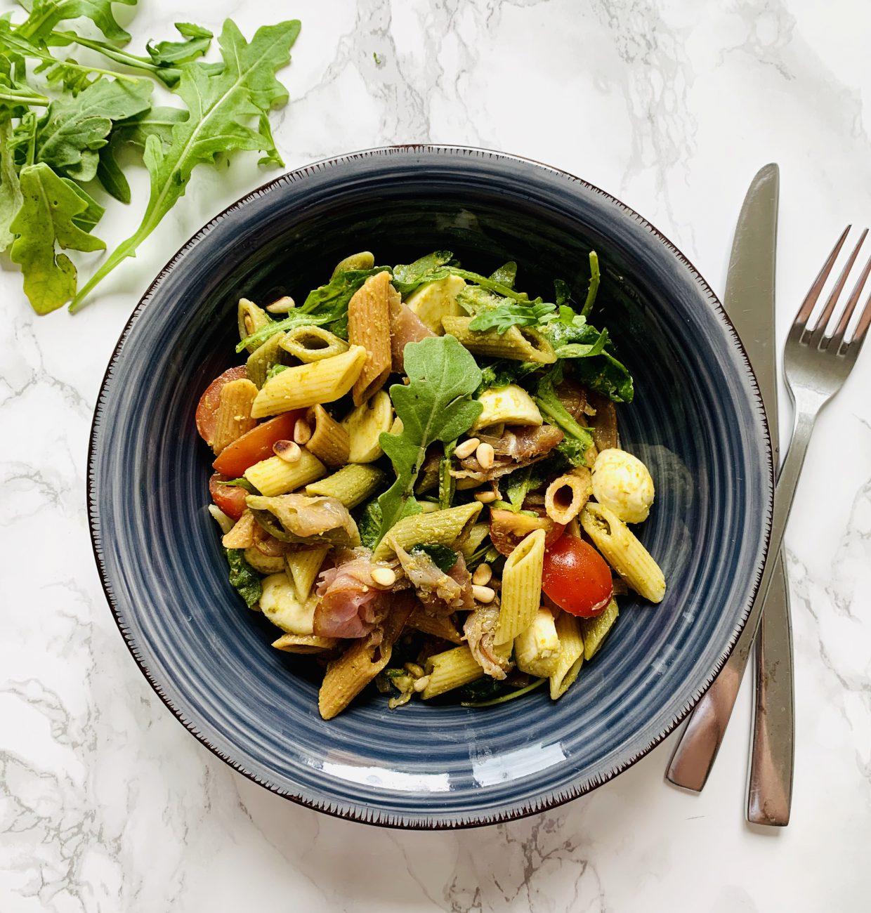 Italiaanse koude pastasalade